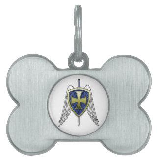 San Miguel - escudo de la escala del dragón Placa Mascota
