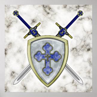 San Miguel - espadas y escudo Posters