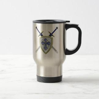 San Miguel - espadas y escudo Taza De Viaje