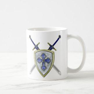 San Miguel - espadas y escudo Tazas De Café