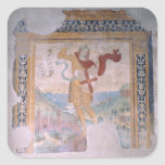 San Miguel (fresco) Pegatina Cuadrada