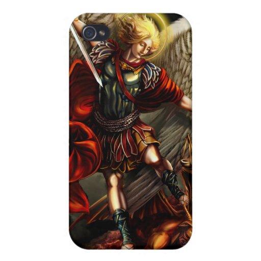 San Miguel la caja de la mota del arcángel iPhone 4/4S Carcasas