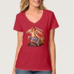 San Miguel la camiseta católica 3 del ángel del Camisas