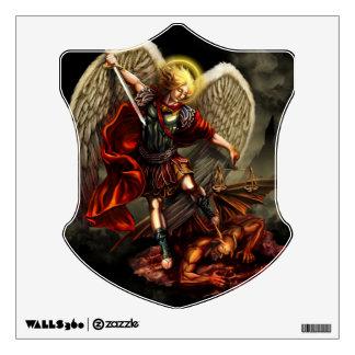 San Miguel la etiqueta de la pared del escudo del