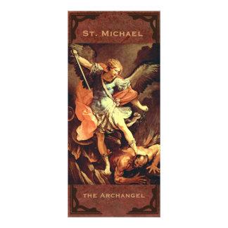 San Miguel la tarjeta del rezo del arcángel Lona