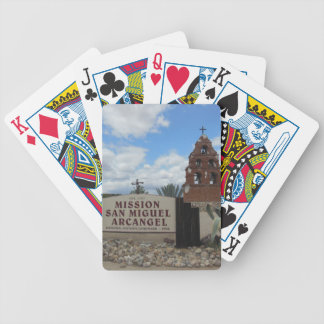 San Miguel Mission Bell Tower and Sign Bicycle Playing Cards