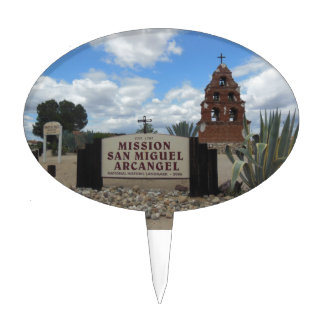 San Miguel Mission Bell Tower and Sign Cake Topper