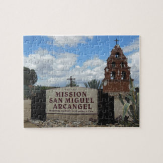 San Miguel Mission Bell Tower and Sign Jigsaw Puzzle