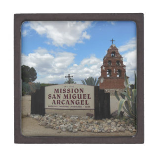 San Miguel Mission Bell Tower and Sign Keepsake Box