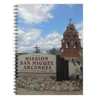 San Miguel Mission Bell Tower and Sign Notebook