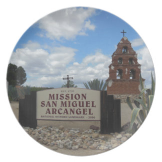 San Miguel Mission Bell Tower and Sign Plate