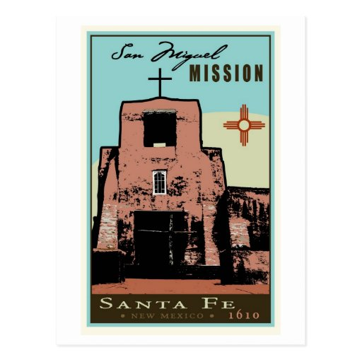 San Miguel Mission Postcard
