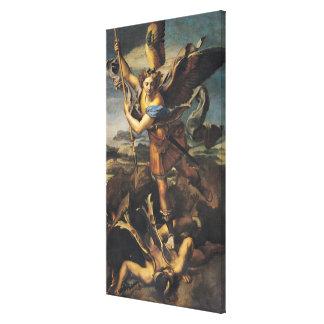 San Miguel que abruma al demonio, 1518 Lienzo Envuelto Para Galerias