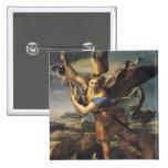 San Miguel que abruma al demonio, 1518 Pin Cuadrada 5 Cm