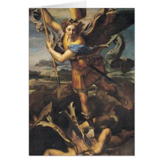 San Miguel que abruma al demonio, 1518 Tarjeta De Felicitación