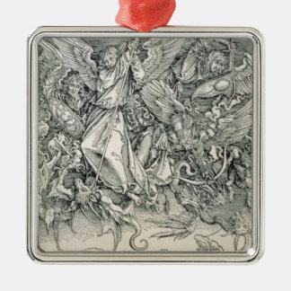 San Miguel que lucha con el dragón Adorno De Navidad