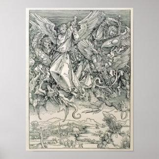 San Miguel que lucha con el dragón Póster
