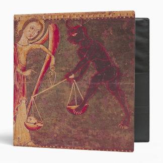 """San Miguel que pesa almas, de un altarpiece Carpeta 1 1/2"""""""