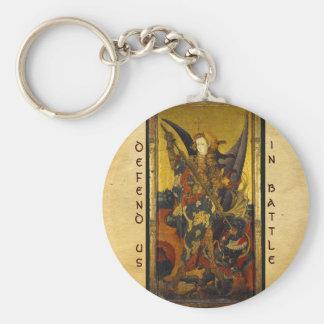 San Miguel que vence al diablo Llavero Redondo Tipo Pin