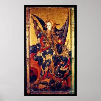 San Miguel que vence al diablo Póster