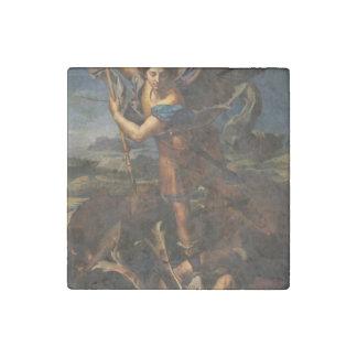 San Miguel que vence Satan Imán De Piedra