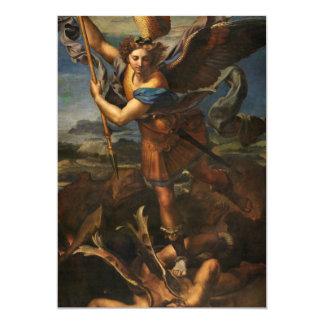 San Miguel que vence Satan Invitación 12,7 X 17,8 Cm