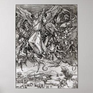 San Miguel y el dragón, de un latín Poster