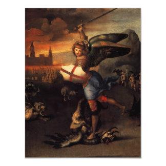 San Miguel y el dragón Invitación 10,8 X 13,9 Cm