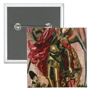San Miguel y el dragón Pin Cuadrada 5 Cm