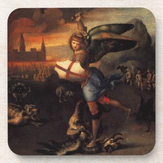 San Miguel y el dragón Posavasos De Bebidas