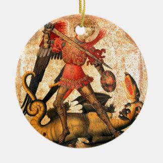 San Miguel y el dragón (siglo XV) Adornos De Navidad