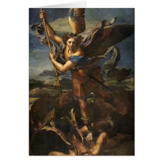 San Miguel y el Satan - Raphael Tarjeta De Felicitación