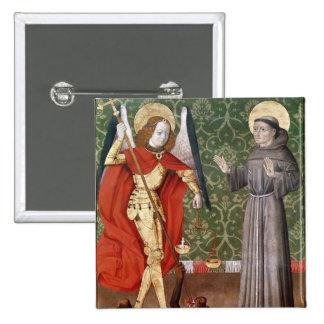 San Miguel y St Francis de Assisi, c.1480 Pin Cuadrado