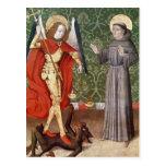 San Miguel y St Francis de Assisi, c.1480 Postal