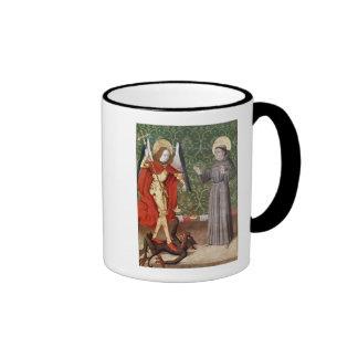 San Miguel y St Francis de Assisi, c.1480 Taza