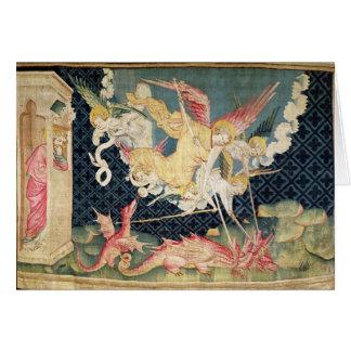 San Miguel y sus ángeles que luchan el dragón Felicitación