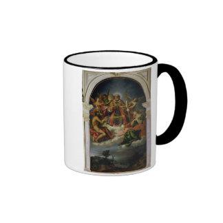 San Nicolás en gloria con los santos Taza
