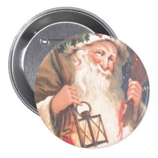 San Nicolás viejo con el botón del vintage de la Pin