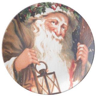 San Nicolás viejo con el vintage de la linterna Plato De Cerámica