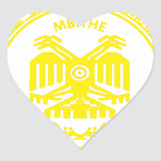 SAN PABLITO/MBITHE AMARILLO AZT  CUSTOMIZABLE PROD HEART STICKER