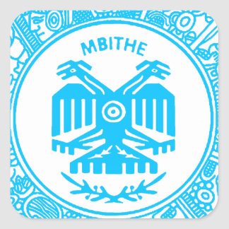 SAN PABLITO/MBITHE  AZUL T  CUSTOMIZABLE PRODUCTS SQUARE STICKER