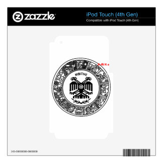 SAN PABLITO/MBITHE BLACK AZT  CUSTOMIZABLE PRODUCT DECALS FOR iPod TOUCH 4G