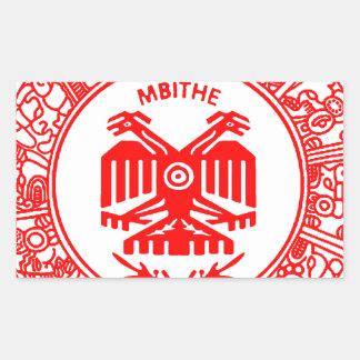 SAN PABLITO/MBITHE ROJO A  CUSTOMIZABLE PRODUCTS RECTANGULAR STICKER