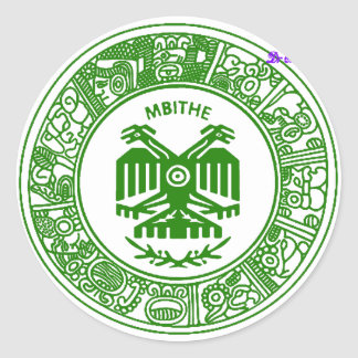 SAN PABLITO/MBITHE VERDE AZT  CUSTOMIZABLE PRODUCT CLASSIC ROUND STICKER