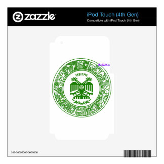 SAN PABLITO/MBITHE VERDE AZT  CUSTOMIZABLE PRODUCT SKIN FOR iPod TOUCH 4G