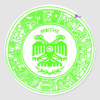 SAN PABLITO/MBITHE VERDE F  CUSTOMIZABLE PRODUCTS CLASSIC ROUND STICKER