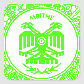 SAN PABLITO/MBITHE VERDE F  CUSTOMIZABLE PRODUCTS SQUARE STICKER