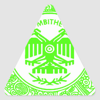 SAN PABLITO/MBITHE VERDE F  CUSTOMIZABLE PRODUCTS TRIANGLE STICKER