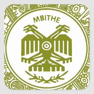 SAN PABLITO/MBITHE VERDE M  CUSTOMIZABLE PRODUCTS SQUARE STICKER