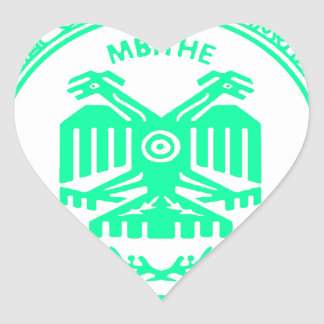 SAN PABLITO/MBITHE VERDE P CUSTOMIZABLE PRODUCTS HEART STICKER
